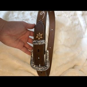 Accessories - Genuine Leather Embroidered Belt